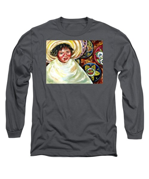 Long Sleeve T-Shirt featuring the painting Sunny Day by Hiroko Sakai