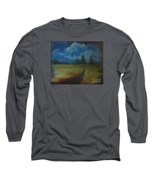 Sunny Field Long Sleeve T-Shirt by Christina Verdgeline