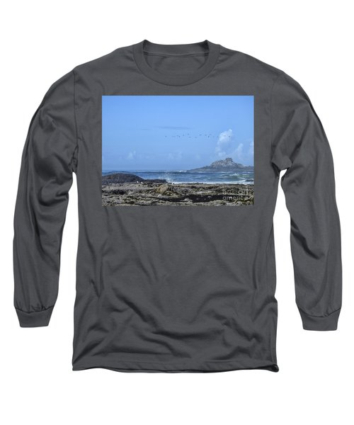 Long Sleeve T-Shirt featuring the photograph Sunny Morning At Roads End by Peggy Hughes