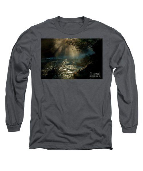 Sunrays At Fork River Long Sleeve T-Shirt by Iris Greenwell