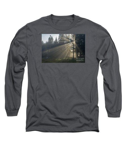 Long Sleeve T-Shirt featuring the photograph Sunrays by Inge Riis McDonald