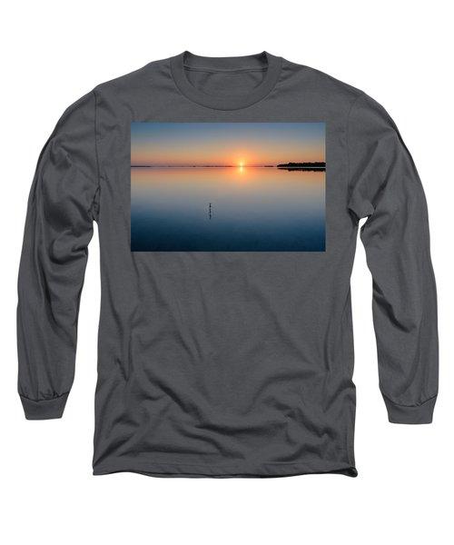 Sunrise Along The Pinellas Bayway Long Sleeve T-Shirt by Craig Szymanski