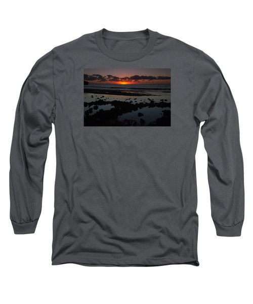 Long Sleeve T-Shirt featuring the photograph Sunrise At Shipwreck Beach by Roger Mullenhour