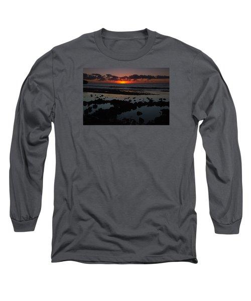 Sunrise At Shipwreck Beach Long Sleeve T-Shirt