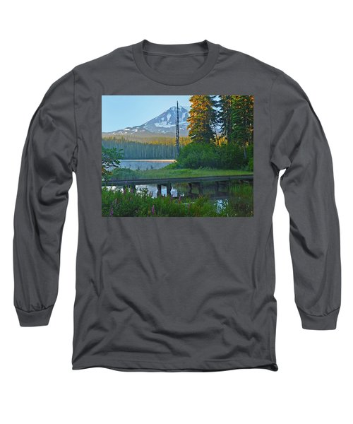 Long Sleeve T-Shirt featuring the photograph Sunrise At Takhlakh Lake Under Mt Adams by Jack Moskovita