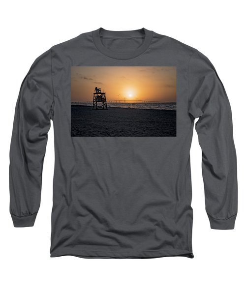 Sunrise At The Skyway Bridge Long Sleeve T-Shirt by Michael White