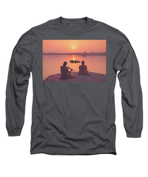 Sunrise By The Ganges Long Sleeve T-Shirt