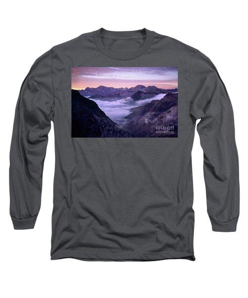 Sunrise Cirque De Gavarnie Pyrenees Long Sleeve T-Shirt
