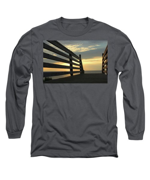 Sunrise Long Sleeve T-Shirt by David Stasiak