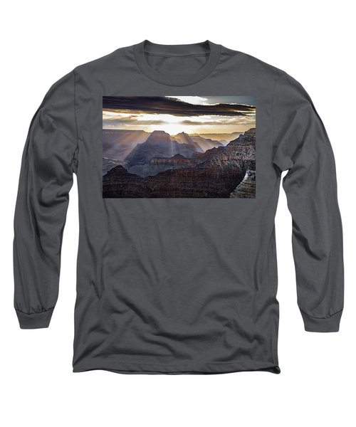 Sunrise Grand Canyon Long Sleeve T-Shirt by Phil Abrams