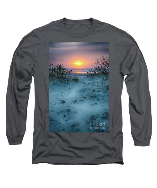 Long Sleeve T-Shirt featuring the photograph Sunrise Hike On The Outer Banks by Dan Carmichael