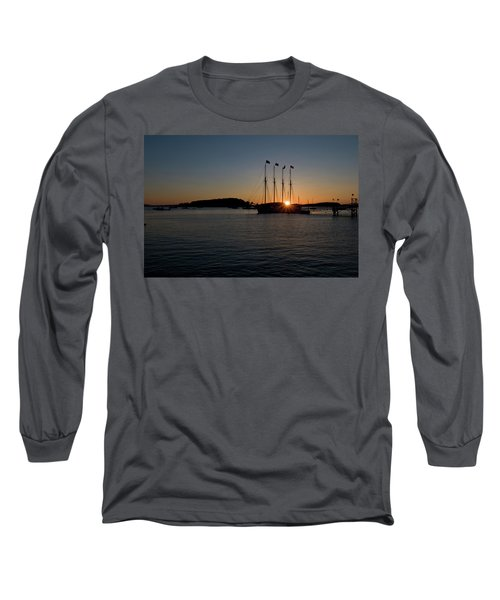 Sunrise In Bar Harbor Long Sleeve T-Shirt