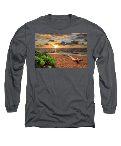Long Sleeve T-Shirt featuring the photograph Sunrise In Kapaa by James Eddy