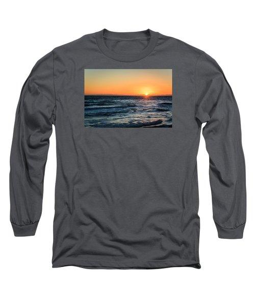 Sunrise In Nags Head Long Sleeve T-Shirt by Joni Eskridge