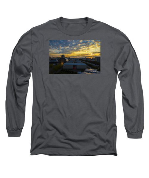 Long Sleeve T-Shirt featuring the photograph Sunrise In Osaka by Pravine Chester