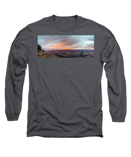 Sunrise In The Canyon Long Sleeve T-Shirt by Jon Glaser