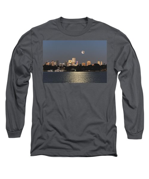 Moonrise Over Miami Long Sleeve T-Shirt