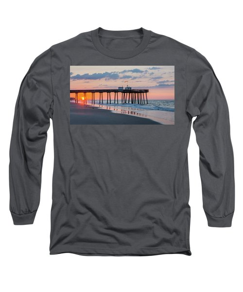 Sunrise Ocean City Fishing Pier Long Sleeve T-Shirt