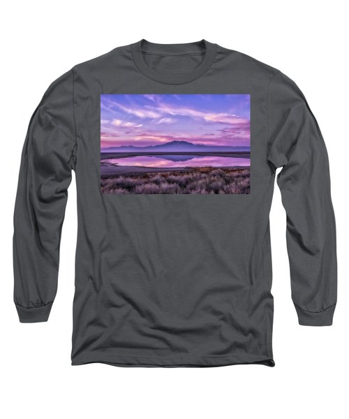 Sunrise On Antelope Island Long Sleeve T-Shirt