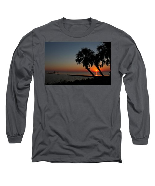 Long Sleeve T-Shirt featuring the photograph Sunrise On Pleasure Island by Judy Vincent