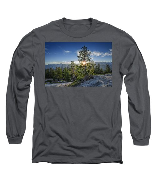 Sunrise On Sentinel Dome Long Sleeve T-Shirt