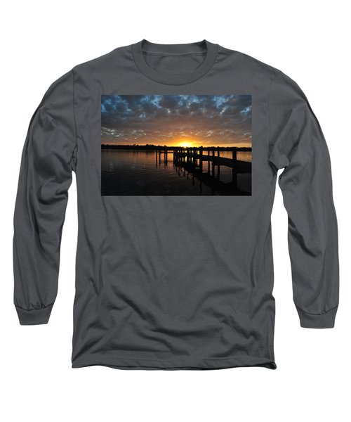 Long Sleeve T-Shirt featuring the photograph Sunrise On The Bayou by Michele Kaiser