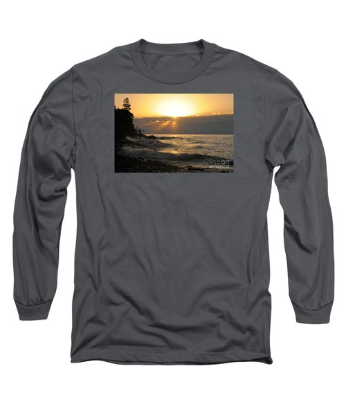 Long Sleeve T-Shirt featuring the photograph Sunrise On The Point by Sandra Updyke