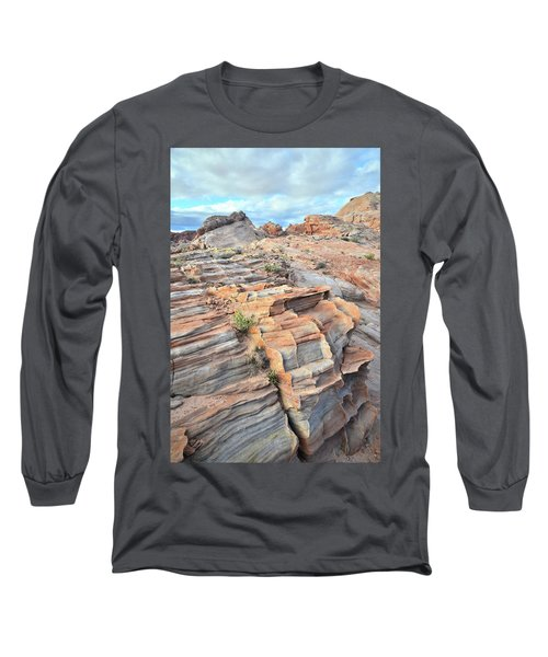Sunrise On Valley Of Fire Long Sleeve T-Shirt by Ray Mathis