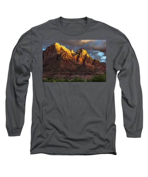 Sunrise On Zion National Park Long Sleeve T-Shirt