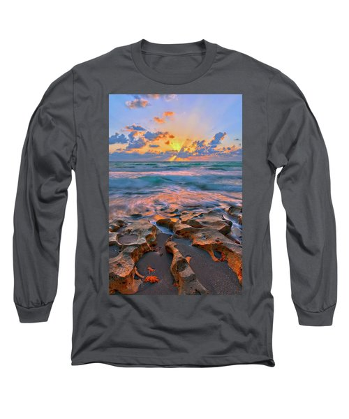 Sunrise Over Carlin Park In Jupiter Florida Long Sleeve T-Shirt