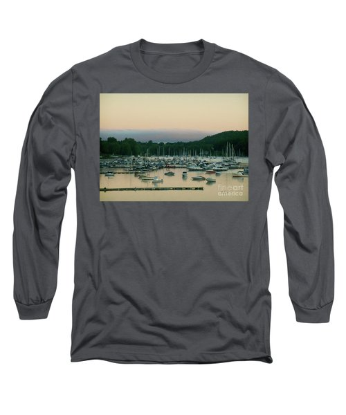 Sunrise Over Mallets Bay Variations - Three Long Sleeve T-Shirt by Felipe Adan Lerma