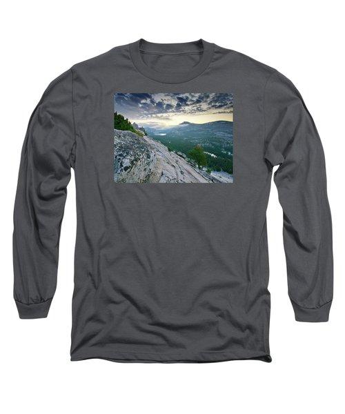Sunrise Over Tenaya Lake - Yosemite National Park Long Sleeve T-Shirt by Brendan Reals