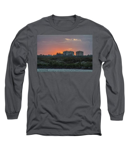 Sunrise Over The Intracoastal Long Sleeve T-Shirt by Nance Larson