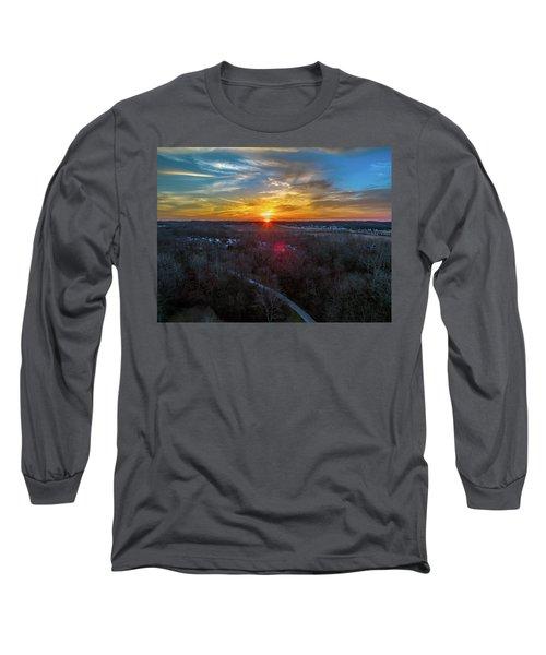 Sunrise Over The Woods Long Sleeve T-Shirt