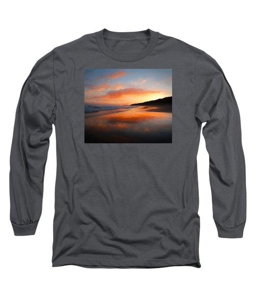 Sunrise Reflection Long Sleeve T-Shirt by Roy McPeak