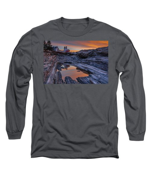 Sunrise Reflections At Pemaquid Point Long Sleeve T-Shirt