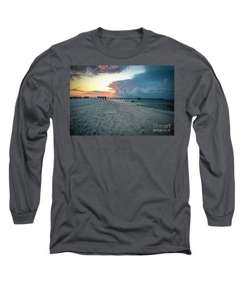 Sunrise Seascape Gulf Shores Al Pier 064a Long Sleeve T-Shirt