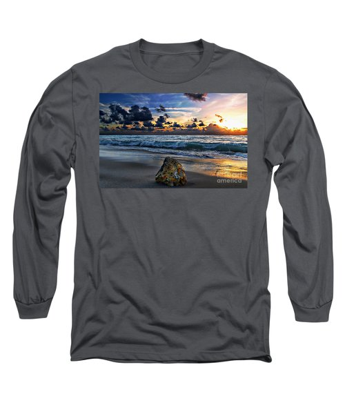 Sunrise Seascape Wisdom Beach Florida C3 Long Sleeve T-Shirt