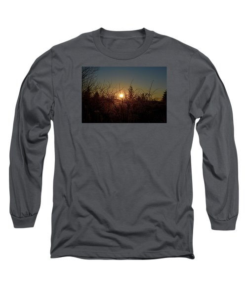 Sunrise Thru The Brush Long Sleeve T-Shirt