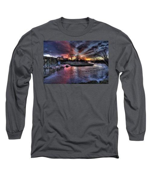 Sunrise Trestle #1 Long Sleeve T-Shirt by Fiskr Larsen