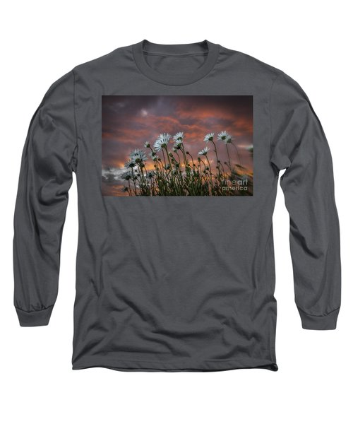Sunset And Daisies Long Sleeve T-Shirt