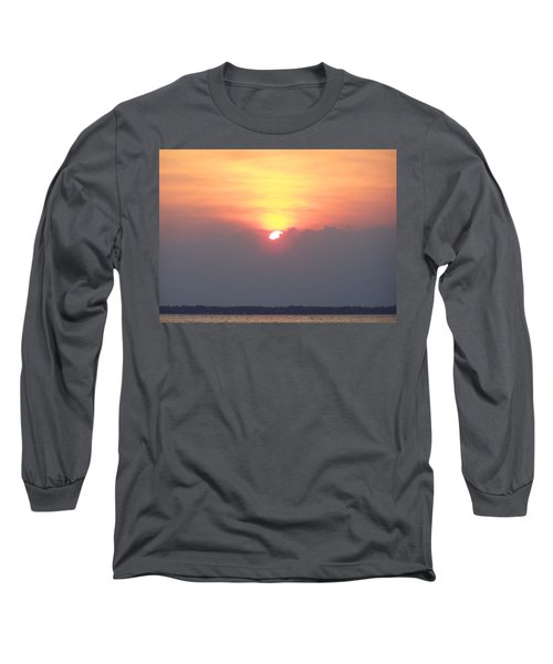 Long Sleeve T-Shirt featuring the photograph Sunset And The Storm by Sandi OReilly