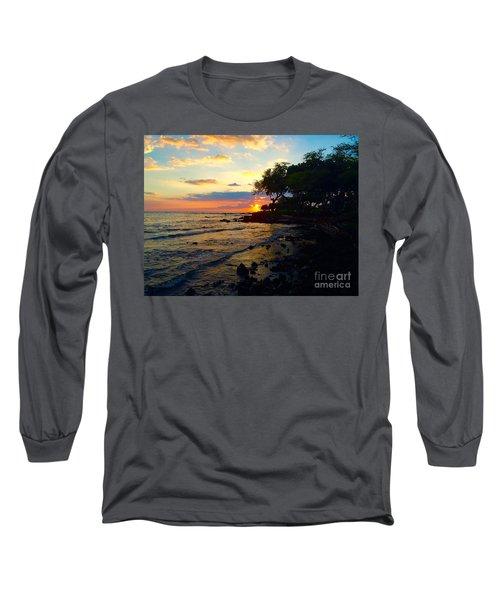 Sunset At A-bay Long Sleeve T-Shirt