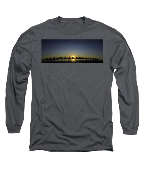 Long Sleeve T-Shirt featuring the photograph Sunset At Cable Beach by Chris Cousins