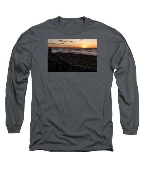 Sunset At Cap Rouge Long Sleeve T-Shirt