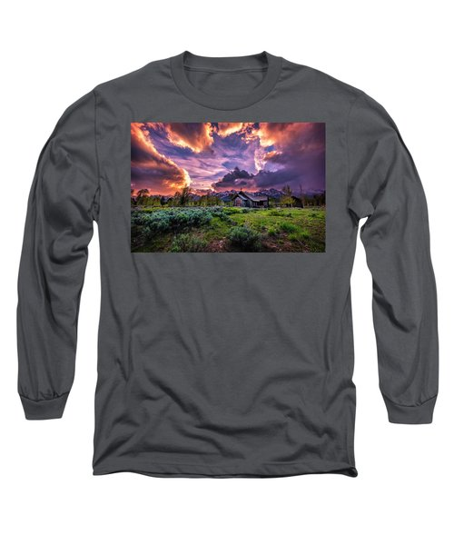 Sunset At Chapel Of Tranquility Long Sleeve T-Shirt