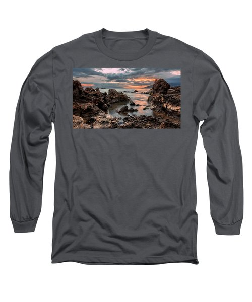 Sunset At Charley Young Beach Long Sleeve T-Shirt