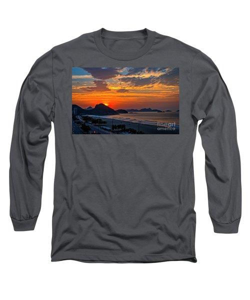 Sunset At Copacabana Long Sleeve T-Shirt