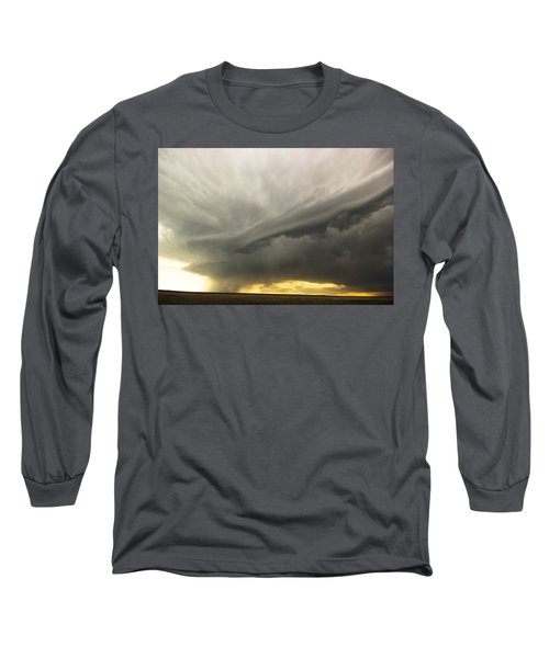 Long Sleeve T-Shirt featuring the photograph Sunset At Dalhart Texas by Ryan Crouse