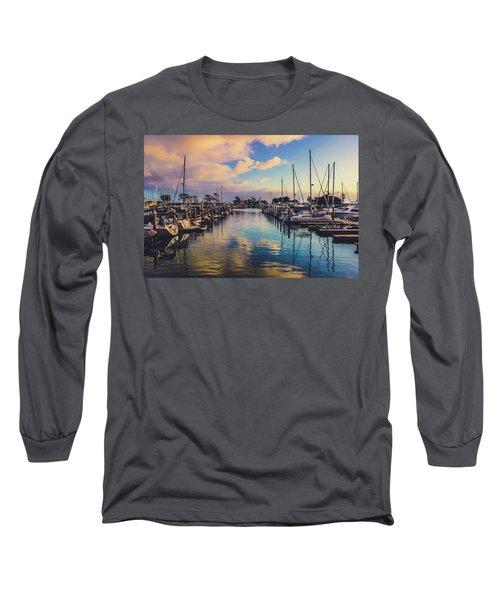 Sunset At Dana Point Harbor Long Sleeve T-Shirt